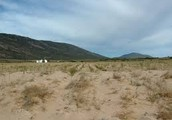 The arid landscape