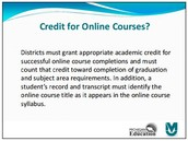 Credit for Online Courses?