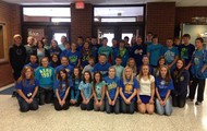A lunch Blue t-shirts!