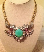 Mint and pink necklace