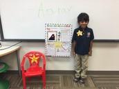 Thursday's Star Student, Aarav!