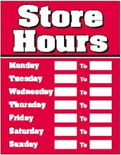 Opening & Closing Hours
