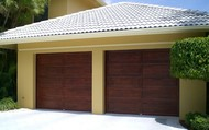 Wood Grain Garage Door!