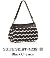 Suite Skirt - Black Chevron