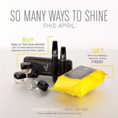 APRIL KUDOS - Buy a mascara and 4 eye pigments get Shine Cloths FREE