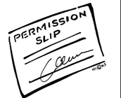 Permission slips for tenagers