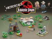 Lego micro scale of Jurassic park