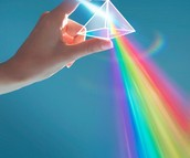 Visible light and A Prism