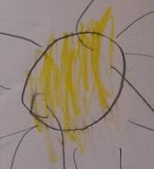 disegno libero del sole - anni 4