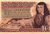Sor Juana on a bank note