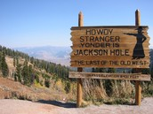 Sign at front of Jackson Hole
