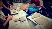 Working with clay in Art