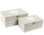 Wooden keepsake boxes - nest of 2 -