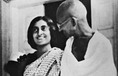 Mahatma Gandhi with his wife Kasturba Gandhi