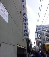 Parking building.