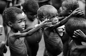Children suffering from hunger today