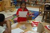 2nd Grader reads her poem aloud