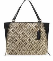 The Switch Bag diamond raffia print