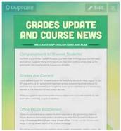 AP Lang Newsletters