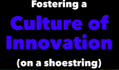 Fostering A Culture of Innovation On  A Shoestring