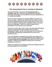 4th/FINAL Posting - International Fair