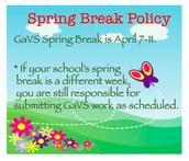 Spring Break Info
