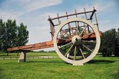gray design red river cart