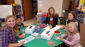 Decorating our Valentine Boxes