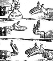 Political cartoon over politics in the 20s
