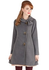 Perpetual Charm Coat in Charcoal