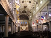 Inside of the cathedral