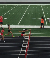 Alexis Matthews on the 100m hurdles!
