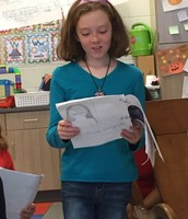 5th graders came to read poetry