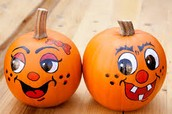 Just go to this website to see how to paint a small pumpkin