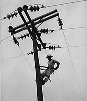 some of the first powerlines