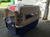 Medium size travel dog crate $25