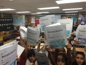 Ms. Davishines' Panthers Show Off Mockingbird Challenge Book Reviews!