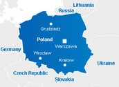 Poland Major Cities Map