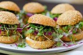 Lentil and microgreen sliders