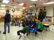 Students waited in the Parent Center.