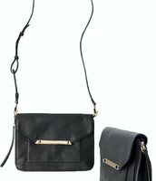 Tia Cross Body with Removable strap Black Leather
