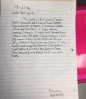 Kiersten's letter