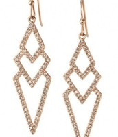 Rose Gold Pave Spear Earrings
