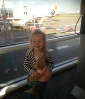 Ruby and Rosie looking for their plane