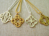 Clover Initial Charms