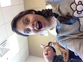 In class with my friends in the backtound
