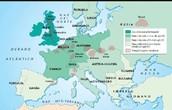 Imagen en la que se muestra las principales zonas indutriales en Europa