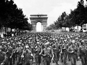 1918- (June 1) American and French troops blocked the Germans from Paris
