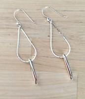 Silver Rebel Drop Earrings