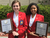 Katie Musser & Felicia Valdez win 2nd place at State Skills USA Meet
